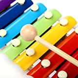 Bobury Colorful Knock on The Piano 8-Tone Xylophone Musical Toy Instrument for Baby Wisdom Development