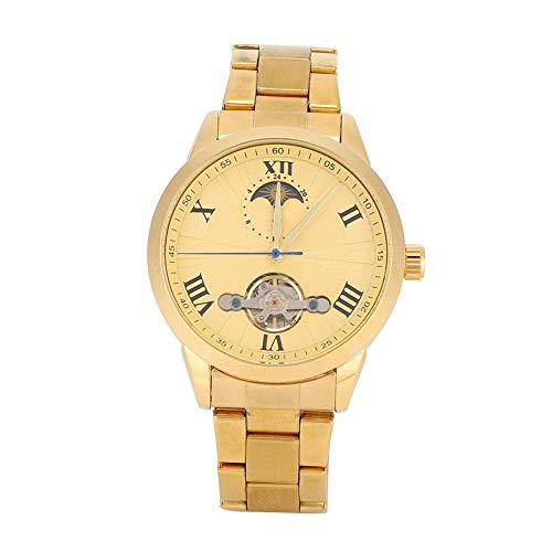 Reloj de pulsera para hombre, esfera redonda, correa hueca, para personas