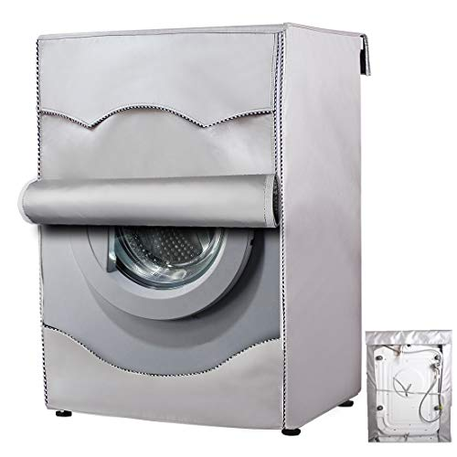 Mr.You Coprilavatrice da Esterno Copertura Impermeabile, Telo Proteggi Lavatrice (60x53x85cm, Silver)