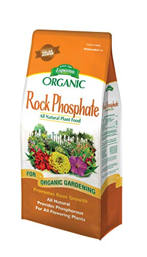 Espoma Rock Phosphate Plant Food, Natural & Organic Phosphorus Supplement, for All Flowering Plants, 7.25 lb, Pack of 2