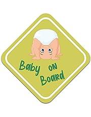 """Pegatina para coche con texto """"Baby on Board"""", 10 x 10 cm, autoadhesiva, resistente a la intemperie"""