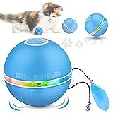 giocattoli gatto interattivi palla gatto palla automatica, palline interattive per gatti con luci a led giocattolo gatto palla per animali domestici, rotazione automatica 360 gradi, ricaricabile usb