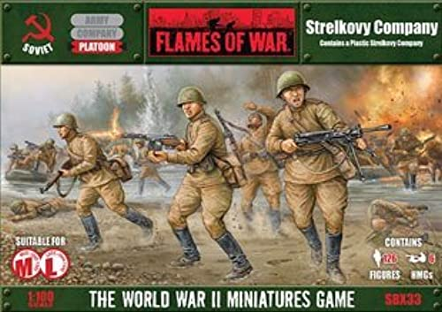 Strelkovy Company (2015 Plastic) - Flames of War Soviet by Flames f War