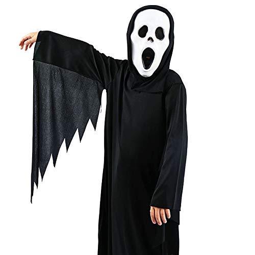 LLSS Cosplay Halloween Navidad Novedad Regalo Disfraz para niños Esqueleto Esqueleto Fantasma Ropa Disfraz de Mascarada Horror Performance Set