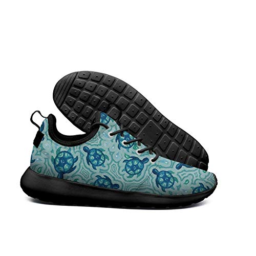 LOKIJM Watercolor Turtle in Water Black Sneaker Shoes for Women News Lightweight Best Running Shoes