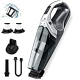 Holife 9Kpa Handheld Vacuum, Hand Vacuum Cordless with Focal LED Light, Removable Battery Li-ion with Quick Charge Tech, Portable Dry Vac Cleaner for Home Car Pet Hair Dust Gravel Cleaning