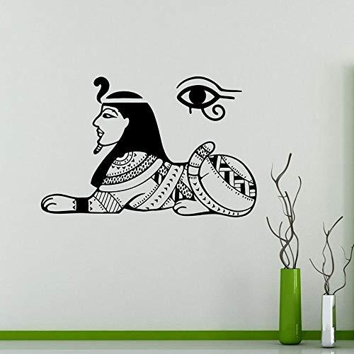 Ksnrang Calcomanía de Pared de la esfinge de Egipto Sagrado Antiguo Egipcio Vinilo extraíble Pegatina de Pared egipcia hogar Interior decoración de Pared Papel Tapiz 64X42 CM