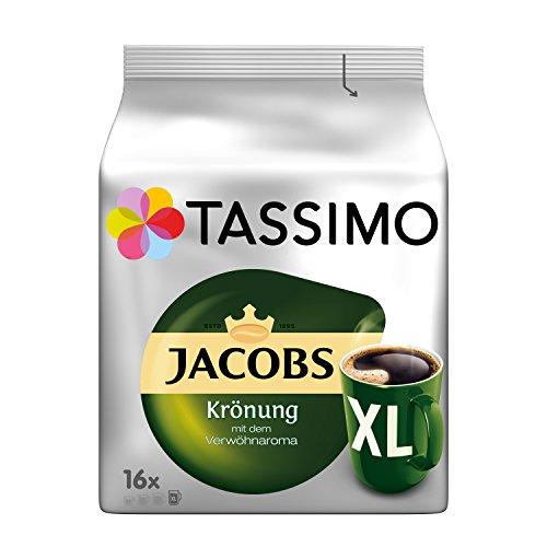 Tassimo Kapseln Jacobs Krönung XL, 80 Kaffeekapseln, 5er Pack, 5 x 16 Getränke