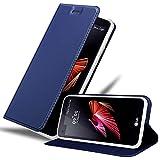 Cadorabo Coque pour LG X Screen en Classy Bleu FONCÉ - Housse Protection avec Fermoire Magnétique,...