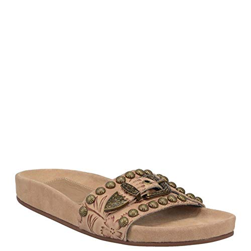Dingo Womens Take It Easy Casual Sandals Shoes, Beige, 8