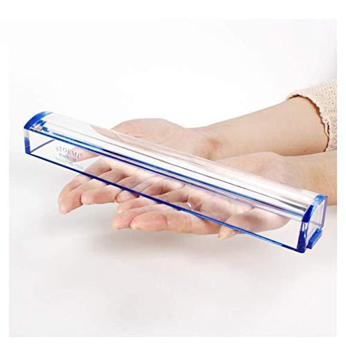 YUQIYU Vidrio con luz Regla y Lupa con Embedded 5X 2X 4X 25x Ligero portátil de Cristal