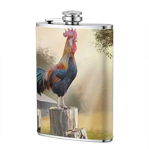 XBYC Lonely Divi Tree Landschaft Flasche für Alkohol, 8 Unzen auslaufsichere Edelstahl Tasche Hüftflasche mit Lederbezug, Whisky Weinflasche, Geschenk für Männer Frauen