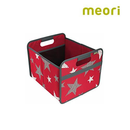 Faltbox Classic Medium Hibiskus Rot / Sterne (Vintage) 32x37x27,5cm stabil, abwischbar, Polyester Drinnen Draußen Spiel Sport Dekoration Kofferraumbox Transport Shopper