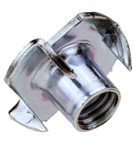 Reidl Einschlagmuttern M 8 x 15 mm 9,9 Stahl galv. verzinkt farblos 10 Stück