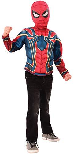 Spiderman - Disfraz de Iron Spider Infinity Wars para niños, pecho musculoso en caja, infantil talla única