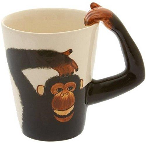 Affen Tasse, Affe Kaffeetasse handgefertigt Keramik, Monkey Mug