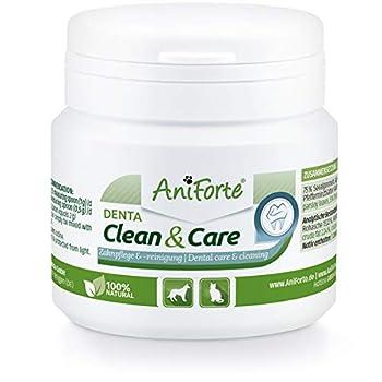 AniForte Denta Clean and Care 80 g Poudre pour Chiens, Chats et Animaux de Compagnie, Dents et Gencives Saines, Complément Alimentaire