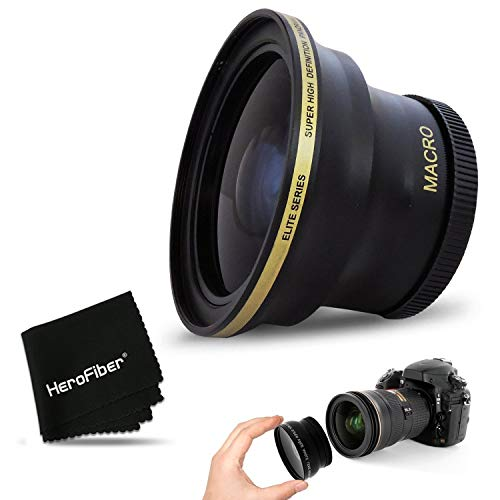 PRO 58MM Fisheye Lens for Canon EOS 80D, 70D, 60D, 7D Mark II, 6D, 5D Mark III, EOS Rebel T7i, T6i, T6S, T6, T5, T5i T4i T3, EOS 1300D, 1200D, 1100D EOS 760D, 750D, 700D DSLR Cameras and 58mm Lenses…
