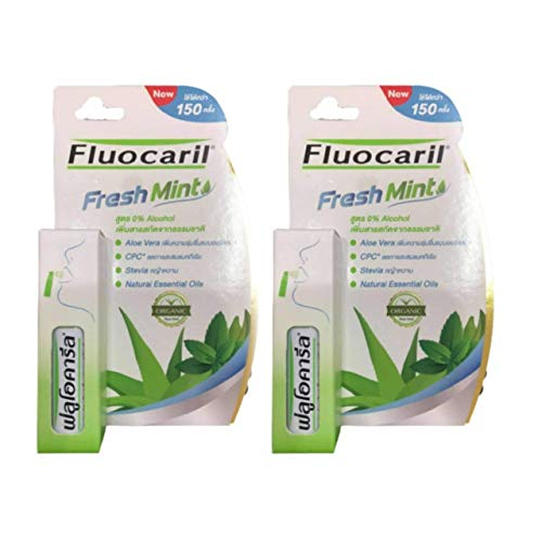Fluocaril Breath, Fresh Mint Deodorant Spray, 15 ml. Mint flavor (2 pieces), can be used more than 300 times, giving you fresh and confident breath.