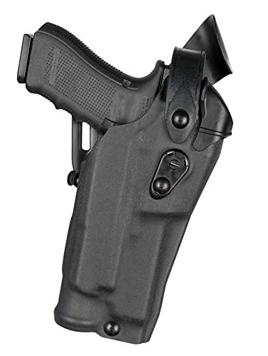 Safariland 6360RDS Level Three Retention Duty Holster, Red Dot Sight Compatible, STX Plain Black, Right Hand, Fits: Glock 17/22 Streamlight TLR 2