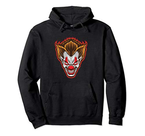 Horror Clown-Gesicht Scary Happy Halloween-Party Pullover Hoodie