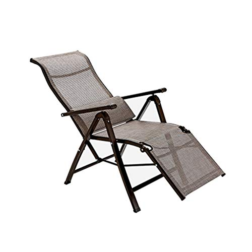 RVC Folding Outdoor Lounge Chairs Camping Reclining Chairs Portable Chair For Poolside Yard Lawn 9 Position Adjustable Support 551 LBS