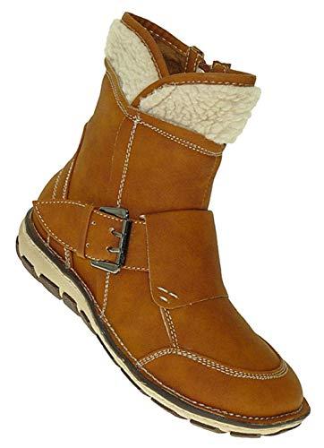 Bootsland 361 Winterstiefel Damenstiefel Stiefel Winterschuhe Damen, Schuhgröße:37