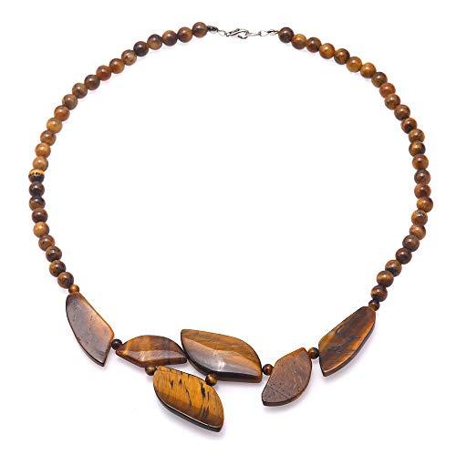 JYXJEWELRY - Collar de abalorio de ojo de tigre y ojo de tigre cuadrado de 6 mm, piedras decorativas de chakra, energía curativa, 45,7...