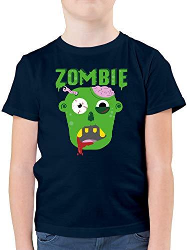 Halloween Kind - Zombie - 164 (14/15 Jahre) - Dunkelblau - T-Shirt - F130K - Kinder Tshirts und T-Shirt für Jungen