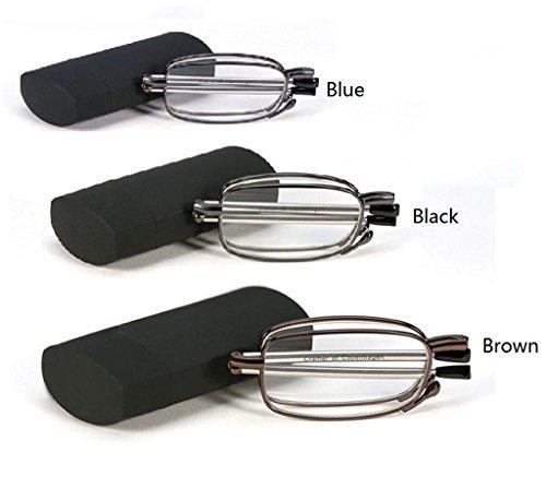Gafas de lectura plegables de la manera de la manera portable de...