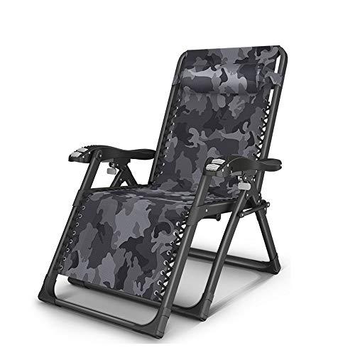oupai Tumbonas Silla de Gravedad Cero, sillón de salón de Patio Plegable con Soporte de Copa de reposacabezas Ajustable Silla reclinada al Aire Libre para jardín al Aire Libre. Apoyo a 550 Libras