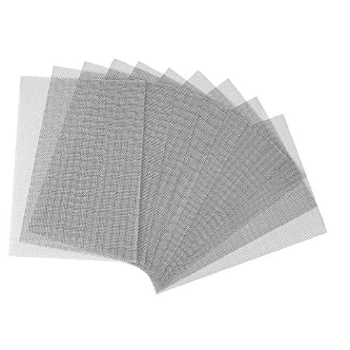 ODOUKEY-Reparación NetWire Malla de Acero Inoxidable de Malla metálica Hoja de ratón del roedor del parásito de Insecto de corrección para Windows Escurrir airbricks 10PCS