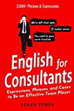 ENGLISH FOR CONSULTANTS: Expressions, Phrases, and Cases to Be an Effective Team Player