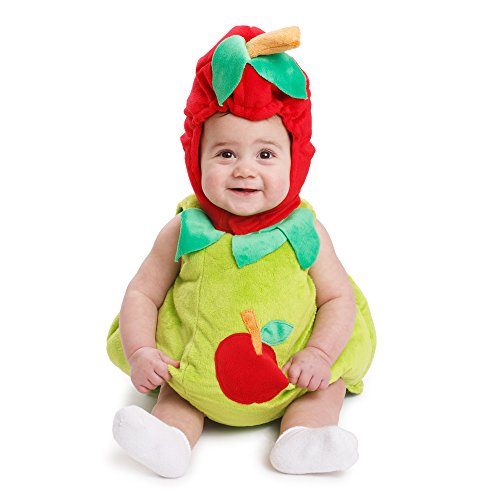 Dress Up America 867-6-12 Zuckersüßes Apfelbaby Zucker Süßes Baby Apfel Kostüm Für Kinder, 6-12 Monate (Gewicht 16-21 Lb, Höhe 24-28 Zoll) green and red
