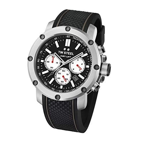 TW Steel Unisex Erwachsene Chronograph Quarz Uhr mit Silikon Armband TS10
