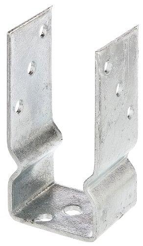 GAH Alberts Ancre de poteau en'U' à visser en acier galvanisé à chaud lichte Breite: 71 mm