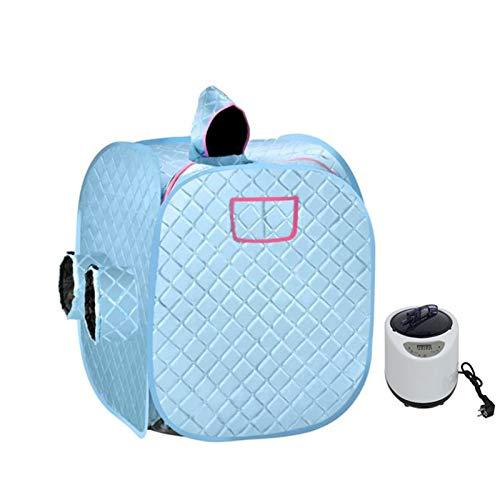 GFSD Dampfsaunazelt Tragbarer Wellnessraum Hausbegasung Dampfmaschinen-Zelt Body Slimming Folding Detox Saunaraum Kabine (Color : Blue, Size : Double)