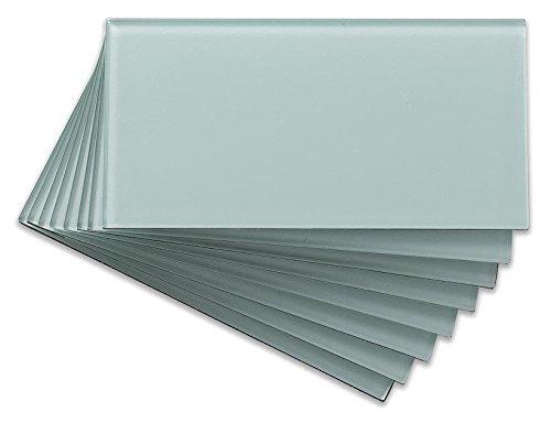 Aspect A50-64 Glasfliese für Küche und Bad, abziehen und aufkleben, 3 x 6 cm, Morning Dew by Aspect