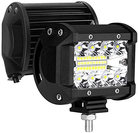 AUZKIN LED Light Bar 4 inches Submersible Driving Fog Lights 120W 12800lm LED Pods Spot Flood product image