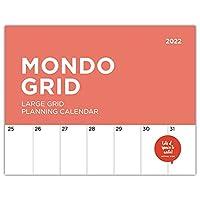 2022 Mondo Grid Wall Calendar by Bright Day, 15.5 x 12 Inch, Large Huge Big Jumbo Monster Planner Organizer