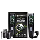 LetsShave Beard, Body & Head Trimmer with Lithium-ion Battery, Cordless, Stainless Steel Blade, 38...