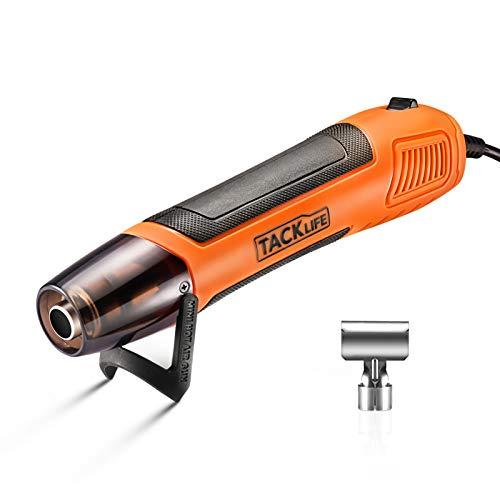 Mini Heißluftpistole, Tacklife Elektrische Heißluftfön 350W mit Reflektordüse, Temperatur 350℃ für handwerklichen Arbeit, Ideal zum Schrumpfen von Schläuchen, Embossing-HGP35AC