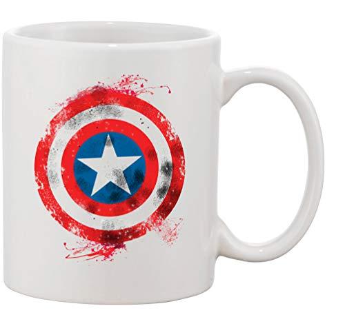 Tasse mit Aufdruck - Modell Vintage Captain America - Kaffeetasse Becher Teetasse Kaffeebecher