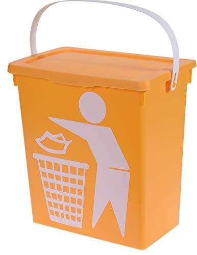 hibuy Cubo de Basura de Cocina Cubo de Basura para clasificar Basura doméstica 12 litros