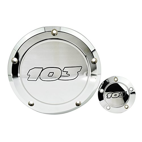 YHMTIVTU Derby Timing Points Cover for Harley Dyna Softtail Touring 1999-2016 Chrome with black letters