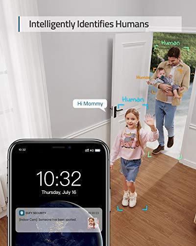 eufy Security 1080P Indoor Cam Schwenk- und Neigefunktion, IP Kamera, Überwachungskamera für Zuhause, WLAN, Personenerkennung, Sprachassistent, Bewegungssensor