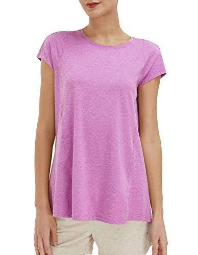SPECIALMAGIC Camiseta de yoga para mujer, holgada, para gimnasio, correr, relajada, holgada, ultra suave, deportiva, para mujer