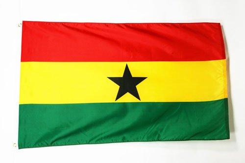 AZ FLAG Flagge Ghana 90x60cm - Republik Ghana Fahne 60 x 90 cm - flaggen Top Qualität