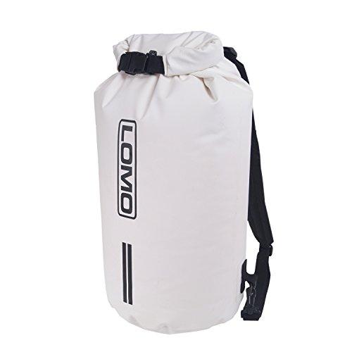 Lomo 20L Rucksack Dry Bag Waterproof Dry Roll Top Bag- White
