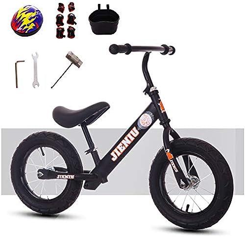 GSDZN - 12  Laufrad Laufürnrad Kinderlaufrad, Ultralight High Carbon Stahlrahmen, Aufblasbares Gummirad, Gute Sto mpfung, Geeignet Für Alter 2-6, Geeignet Für H   80-120cm